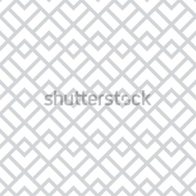 Vinilo Patrón geométrico abstracto con cuadrados, rombos. Un fondo de vector transparente. Patrón gráfico gris y blanco.