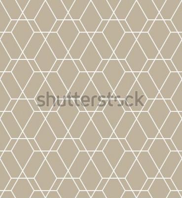 Vinilo Patrón geométrico abstracto con líneas. Un fondo de vector transparente. Patrón gráfico moderno.