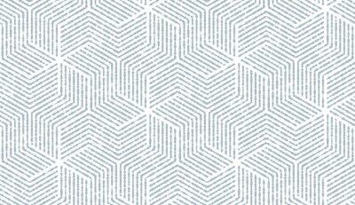 Vinilo Patrón geométrico abstracto con rayas, líneas. Fondo de vector transparente Adorno blanco y azul. Diseño gráfico de celosía simple