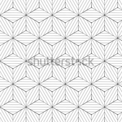 Vinilo Patrón geométrico blanco y negro, vector de fondo.