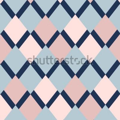 Vinilo Patrón geométrico de rombos. patrón geométrico. adornos étnicos sin costura. Fondo abstracto - líneas de colores. Ilustración vectorial