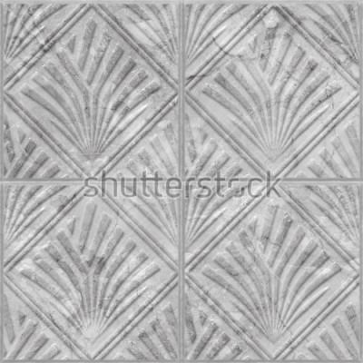 Vinilo Patrón geométrico en la textura perfecta de azulejos de cerámica y mármol, ilustración 3d
