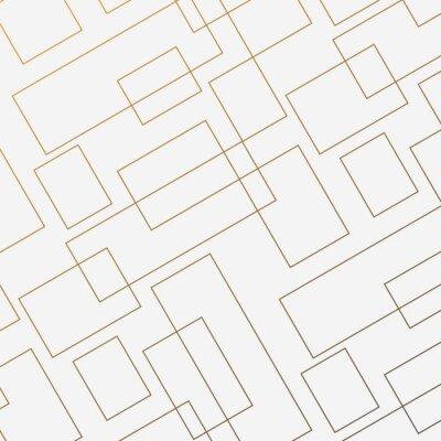 Vinilo Patrón geométrico vectorial, repitiendo forma de diamante cuadrado lineal delgado y rectángulo. Diseño limpio para el papel pintado de tela pintado. El patrón está en el panel de muestras