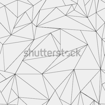 Vinilo Patrón minimalista geométrico simple en blanco y negro, triángulos o vidrieras. Se puede utilizar como fondo de pantalla, fondo o textura.