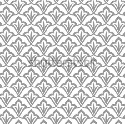Vinilo Patrón ornamental Patrón transparente árabe Fondo marroquí