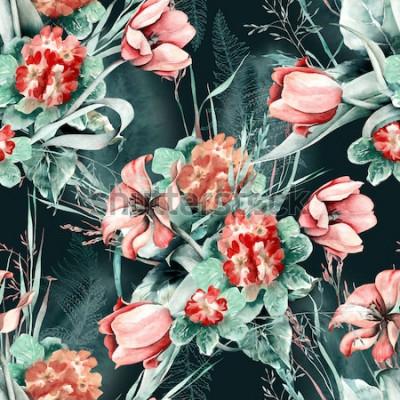 Vinilo Patrón sin costuras de primavera