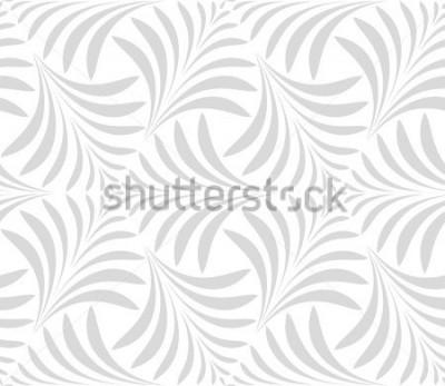 Vinilo Patrón sin costuras Fondo floral con estilo. Adorno gris y blanco. Patrón gráfico moderno.
