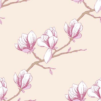 Vinilo Patrón sin fisuras con magnolia_3-03