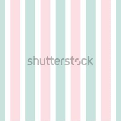 Vinilo Patrón transparente de rayas geométricas de color rosa y verde. Ilustración festiva Papel tapiz de línea vertical. Elegante fondo de envoltura.