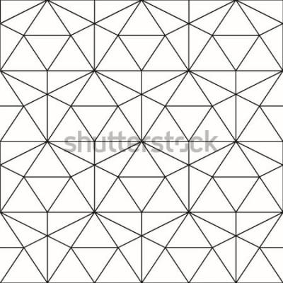 Vinilo Patrón transparente de vector Fondo geométrico con rombos y nodos. Patrón geométrico abstracto Textura gris Patrones geométricos sin fisuras.