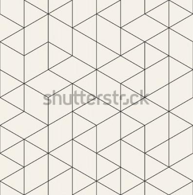 Vinilo Patrón transparente de vector Textura con estilo moderno con enrejado monocromo. Repetir cuadrícula geométrica triangular. Diseño gráfico simple. Moda hipster geometría sagrada.