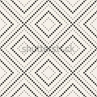 Vinilo Patrón transparente de vector Textura con estilo moderno. Repetición de mosaicos geométricos con rombo punteado