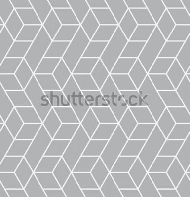Vinilo Patrón transparente de vector Textura con estilo moderno. Repetición de mosaicos geométricos con triángulos.