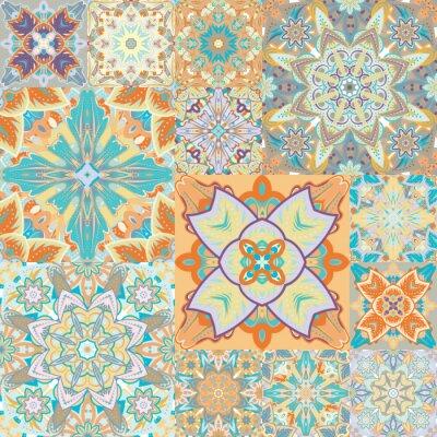Vinilo Patrón transparente del vector. Labor de retazos. En estilo árabe. Ilustración abstracta.