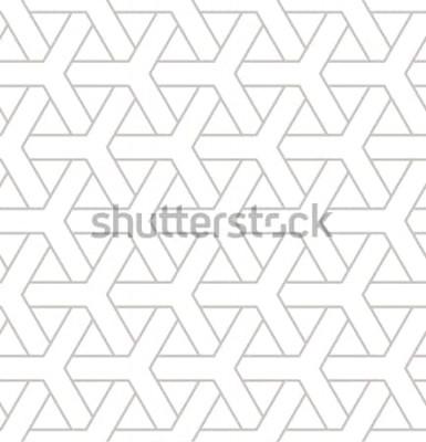 Vinilo Patrones geométricos sin fisuras. Impresión geométrica simple con elementos triples. Vector textura repetitiva Muestra moderna hipster. Fondo minimalista repetitivo.