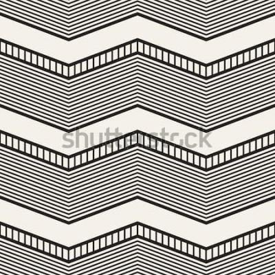 Vinilo Patrones geométricos sin fisuras. Rayas en zig zag. Textura gráfica del vector