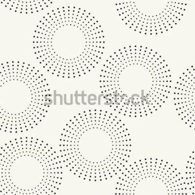 Vinilo Patrones sin fisuras con círculos punteados. Vector textura repetitiva Elegante fondo