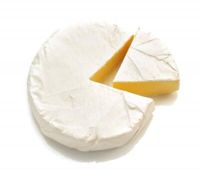 Vinilo Pedazo de queso aislado en blanco