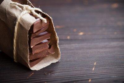 Vinilo Pedazos de chocolate embalados