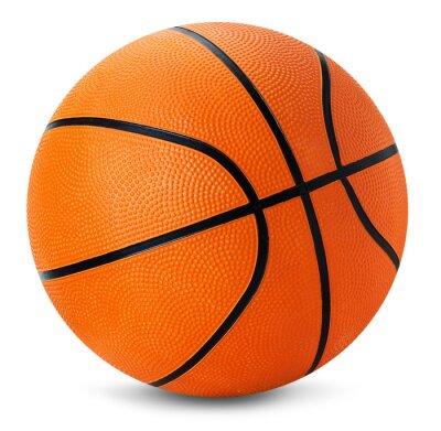 Vinilo pelota de baloncesto aislado en el fondo blanco
