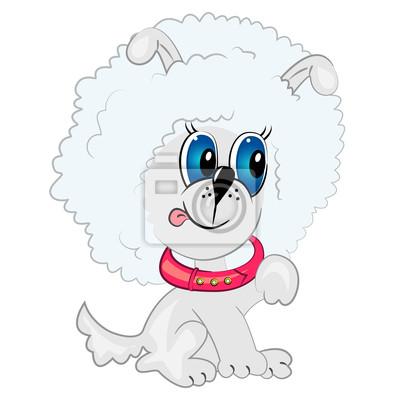 Perro De Dibujos Animados Gracioso Perrito De Juego Vinilos Para