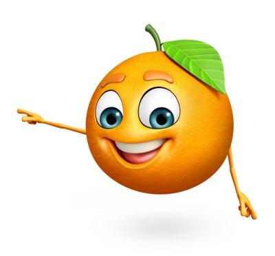 Vinilo Personaje de dibujos animados de la naranja