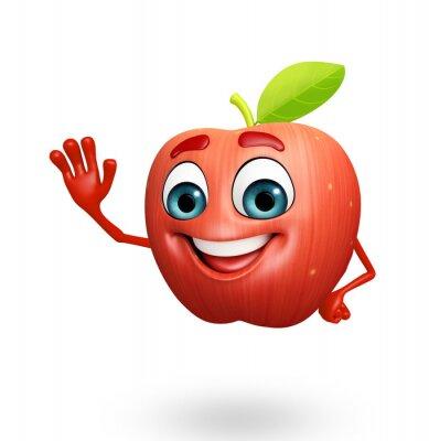 Vinilo Personaje de dibujos animados de las manzanas