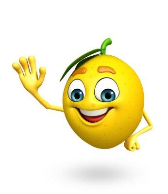 Vinilo Personaje de dibujos animados de limón