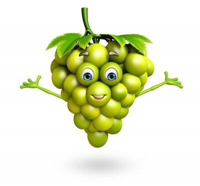 Vinilo Personaje de dibujos animados de uvas