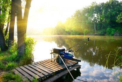 Vinilo Pesca en el río