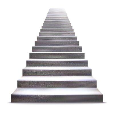 Vinilo Piedra realista de la ilustración vectorial escalera