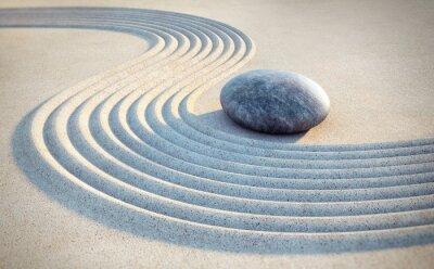Vinilo Piedra y líneas en la arena