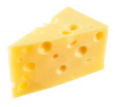 Vinilo Pieza de queso aislado. Con el camino de recortes.