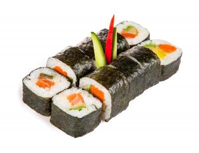 Vinilo Piezas de sushi delicioso