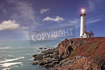 Vinilo pigeon point lighthouse - pacific coast / california