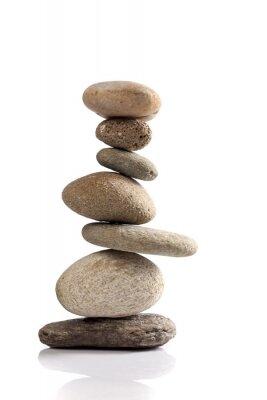 Vinilo Pila equilibrada de diferentes piedras de río