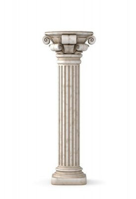 Vinilo Pilar griego clásico. Representación 3D.