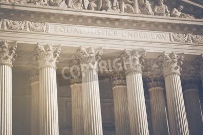 Vinilo Pilares de la Corte Suprema de los Estados Unidos de Justicia y del Derecho