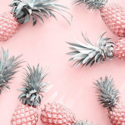 Vinilo Pine Apple Tropical Fruit Pink Natural Organic
