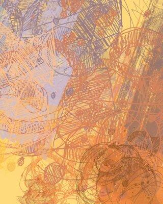 Vinilo Pintura abstracta sobre lienzo. Arte hecho a mano. Textura colorida Ilustraciones modernas Pinceladas de pintura grasa Pinceladas. Arte contemporáneo. Imagen de fondo artística.