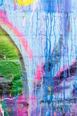 Vinilo Pintura del goteo pared de graffiti