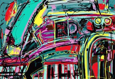 Vinilo pintura digital original de la composición de la abstracción