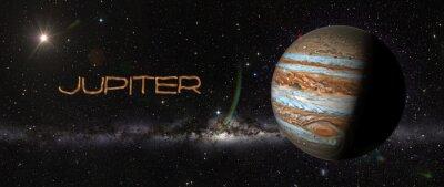 Vinilo Planeta Júpiter en el espacio exterior.