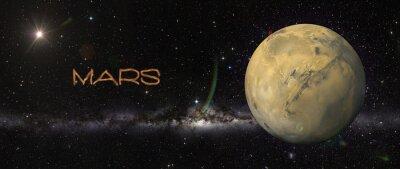 Vinilo Planeta Marte en el espacio exterior.