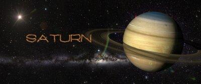 Vinilo Planeta Saturno en el espacio exterior.