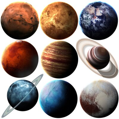 Vinilo Planetas aislados del sistema solar de la calidad de Hight. Elementos de esta imagen proporcionados por la NASA