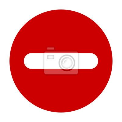 00f2c407a Vinilo Plano redondo menos signo icono rojo