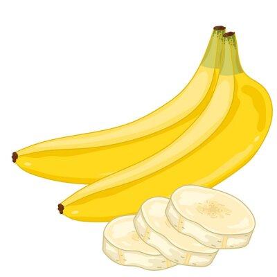 Vinilo Plátano aislado sobre fondo blanco.