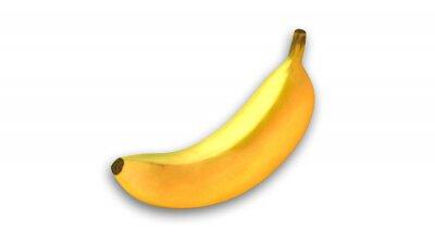 Vinilo Plátano amarillo, frutas aisladas sobre fondo blanco