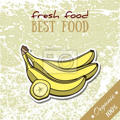 Vinilo Plátano de alimentos saludables